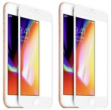 2-Pack White 3D Full Coverage Tempered Glass Screen Protector for iPhone 6 & 6s