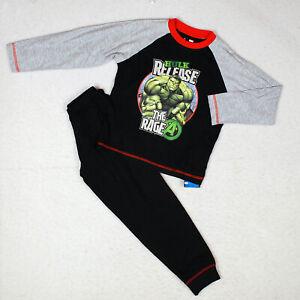Boys Official Marvel Hulk Avengers Pyjamas Age 4-10 Years