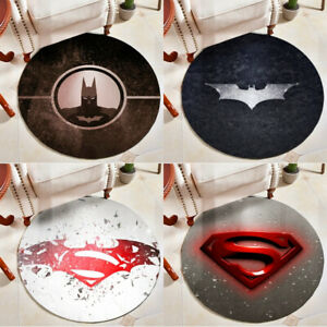 Batman v Superman: Dawn of Justice Superhero Logo Printed Round Carpet Floor Mat