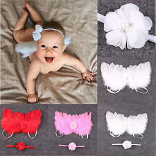 Newborn Baby Boy&Girl White Angel Wings Costume Photo Photography Prop Outfits