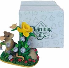 Charming Tails figurine Fitz Floyd mouse anthropomorphic Friendship Bloom floral