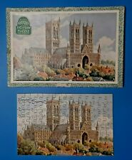 Vintage Victory Wooden Jig-saw Puzzle Lincoln Cathedral Series Cathedral 125p