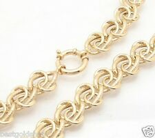 "18"" Technibond Love Knot Chain Necklace 14K Yellow Gold Clad Silver 46.20gr"