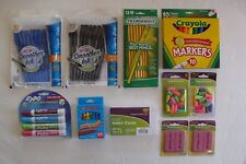 Lot of School Supplies Pens Pencils Markers Expo Crayons Index Cards Erasers