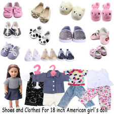 "Hot  Doll Clothes shoes fit 18"" American Girl and 43cm kids gift"