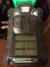 Gas Monitor detector MSA Altair 4X O2,H2S,CO,LEL  With Cradle Charger