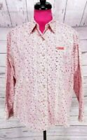 Cowgirl Hardware Western Shirt Size M Womens Pink Floral Paisley Rhinestones