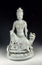 CHINA ANTIQUES DEHUA WARE PORCELAIN KUANYIN BUDDHA