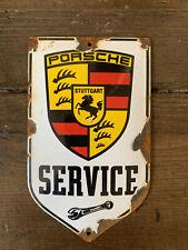 """Vintage Porsche Genuine Enamel Sign 6 X 3.5"""""""