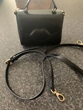 Lulu Guinness Small Izzy Bag In Black Smooth Leather.
