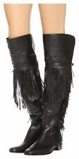 Sigerson Morrison Black Fringe Over The Knee Boots/Booties Size: US 8