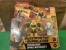 Transformers WAR FOR CYBERTRON WFC Buzzworthy Bumblebee & Spike Lot
