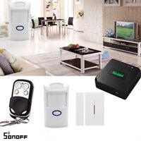 Sonoff RF Bridge 433 + PIR Sensor + DW1 Door Window Alarm Sensor + RF Remote BES