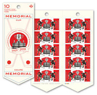 CANADA 2018 100TH PRSENTATION OF THE MEMORIAL CUP - COMPLETE BOOKLET OF 10 MNH