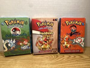 Pokemon OVERGROWTH, LOCKDOWN, HOT WATER Theme deck boxes*** EMPTY *** See Pics