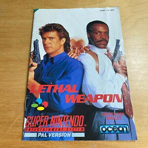 Super Nintendo SNES Instruction Manual - Lethal Weapon