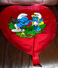 "New Vintage 1983 Smurf's In Love Heart Shaped 17"" Balloon"
