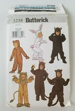 Butterick Pattern 3238 Child Costume Rabbit Lion Monkey Sz 2 - 5 UC FF Sewing