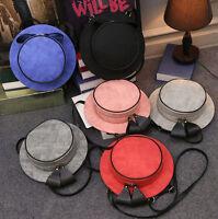 Women Lolita Mini Backpack Kawaii Bowknot  Shoulder Bag Straw Round Hat Handbag