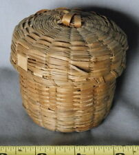 Antique Maine Algonquin sewing Basket ash splint Penobscot Passamaquoddy Indian