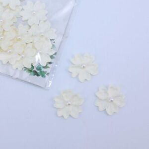 Blooms Flowers Off White 20pcs Crafts Card Embellishments FL002