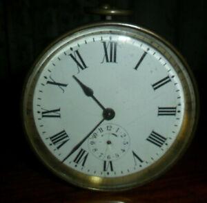 Vintage antique drum alarm clock brass spares repairs