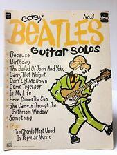 Vintage Easy Beatles Guitar Solos Song Book 1968 No. 3