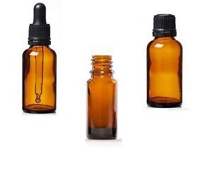 Amber Glass Bottles 5ml, 10ml, 30ml Dropper/Pipette/Atomiser/Lotion Cap for Oils