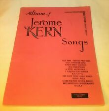 Album Of Jerome Kern Songs By T.B. Harms Company In New York