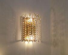 applique parete classico oro lucido cristallo salone camera da letto cucina stas
