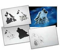Step by Step Stencil AS-001 Wolfkopf ~ UMR Airbrush Schablone