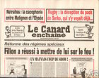 CANARD ENCHAINÉ Birthday Newspaper JOURNAL NAISSANCE 12 SEPTEMBRE SEPTEMBER 2007