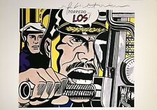 ROY LICHTENSTEIN HAND SIGNED * TORPEDOS...LOS! * COLOR PLATE  W/ C.O.A.
