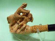 Mythological War Scene Meerschaum pipe Warrior, Slave, Horse, Lion, Dog Big 6241