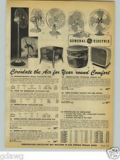1954 PAPER AD Polar Cub Breezemaker GE General Electric Berns Fresh'nd Aire