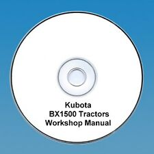 Kubota BX1500 Tractor  Workshop Manual