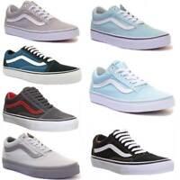 Vans Old Skool Grey Mono Side Strip Trainer Size UK 3 - 12
