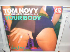 """Tom Novy feat. Michael Marshall 12"""" Your Body , House, Data Records, VG/VG"""