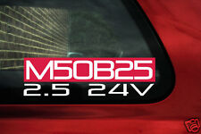 M50B25 2.5 24v sticker for BMW e36 325i is Mtec, Touring (e34 525i late spec)