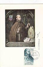 España 1970 Fray Juan de Zumárraga IED máxima tarjeta en muy buena condición sin resolver