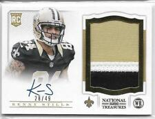 2013 National Treasures Gold Kenny Stills Auto 3 Color Patch Rc # 28/49