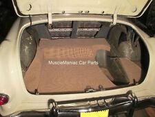 1953-1954 Pontiac Chieftain TRUNK MAT Tan/Brown Tweed Mat on Tar Felt 53 54