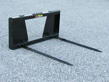 """Pro Works Dual 48"""" Hay Bale Spear Spike Attachment Fits Skid Steer Loader"""