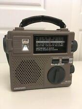 Grundig FR-200 AM-FM-SW1-SW2 Hand Crank Emergency Radio w/Flashlight World Band