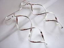 Infinity Double Helix Earrings 925 Sterling Silver Dangle Corona Sun Jewelry