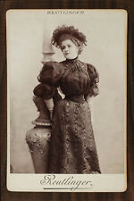Germaine Gallois, Actrice et chanteuse d'opérette Cabinet card Photo Reutlinger