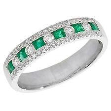 Anelli di lusso smeraldo oro bianco anniversario