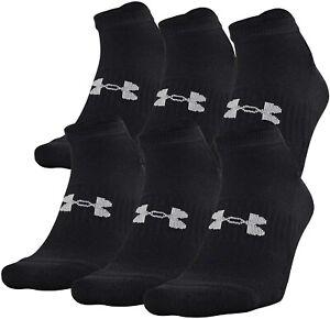 Under Armour Unisex 245206 Training No Show Socks 6-pairs Size M 9-12.5 W 11-13