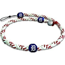 """MLB Detroit Tigers Frozen Rope Baseball Necklace with Detroit """"D"""" Detail"""