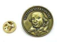 William Shakespeare Pin Badge Gift Set in Fine Antique Finish